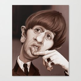 Caricature of  R.Starr Canvas Print