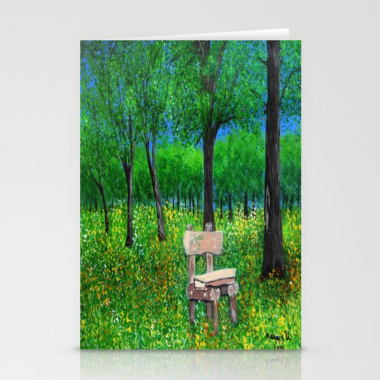 Sit with me  Stationery Cards