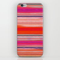 stripes iPhone & iPod Skins featuring stripes by spinL