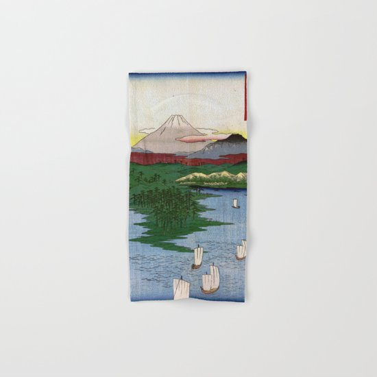 Noge and Yokohama by Hiroshige Hand & Bath Towel
