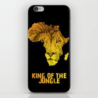 musa iPhone & iPod Skins featuring King Of The Jungle! by DeMoose_Art