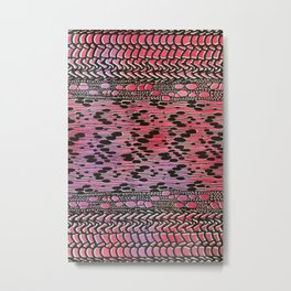 knit patchwork in warm mood Metal Print