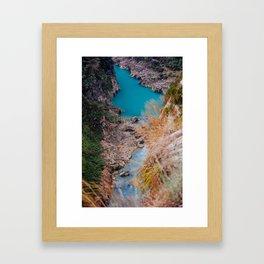 River. Framed Art Print
