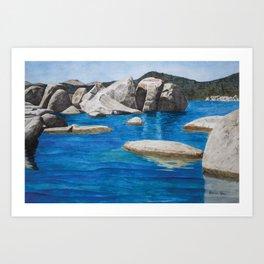 Lake Tahoe Boulder Field Art Print