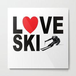 I LOve Ski Metal Print