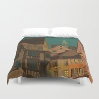 jazzberry Duvet Covers featuring Evening by Megs stuff