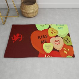 Cupid in search mode-Vintage Rug