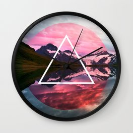 Wanderlust Lake Wall Clock