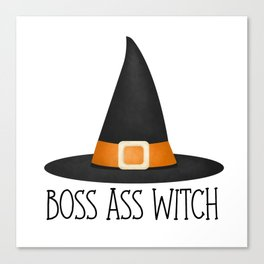 Boss Ass Witch Canvas Print