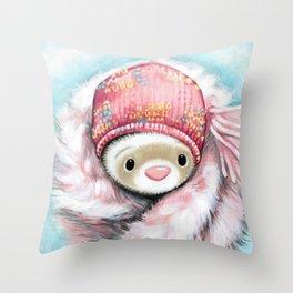 Winter Princess Throw Pillow