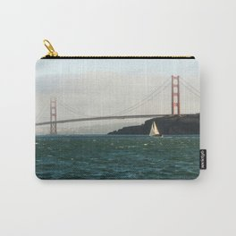 Sailing Under the Golden Gate Bridge Photography Print Carry-All Pouch