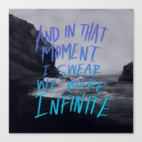 infinite Canvas Prints featuring Infinite by Leah Flores