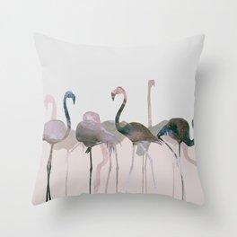 New Flamingos Throw Pillow