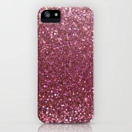 Mauve Pink marsala Glitter Sparkles iPhone Case