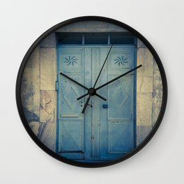 Blue Door II Wall Clock