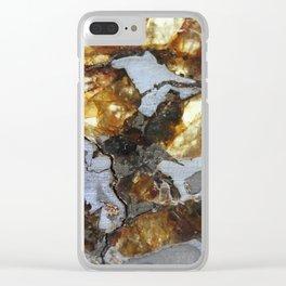 Brenham meteorite macro Clear iPhone Case