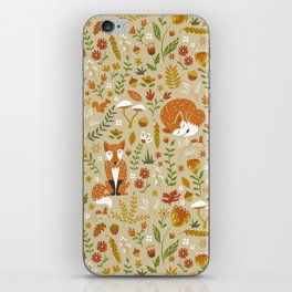 Foxes with Fall Foliage iPhone Skin