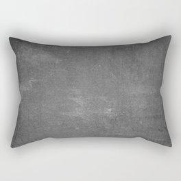 Gray and White School Chalk Board Rectangular Pillow