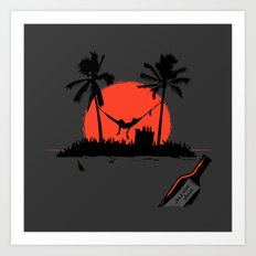 Desert Island Drunk Art Print