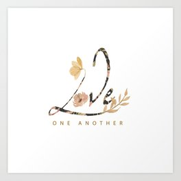 LOVE - one another Art Print