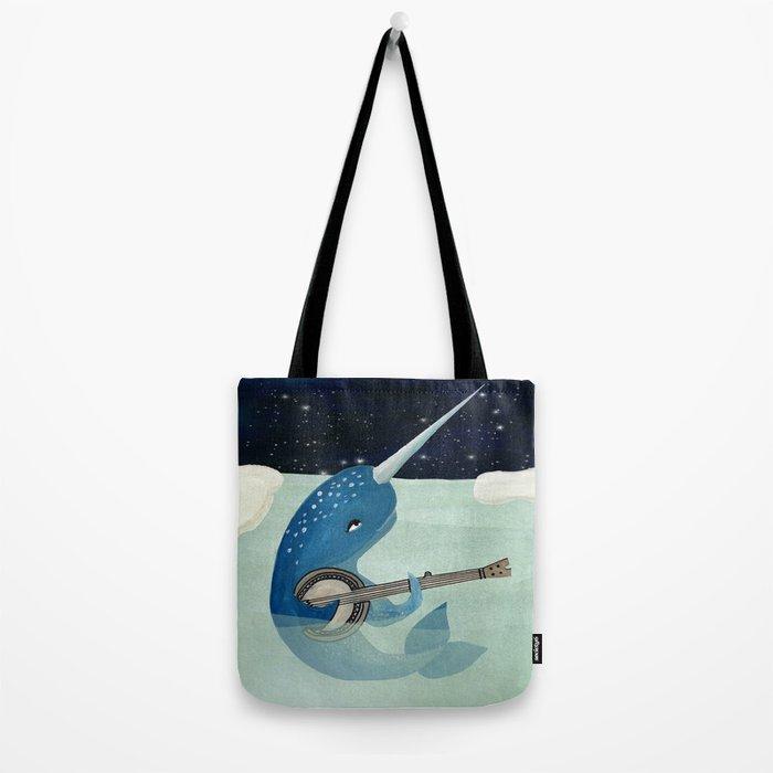 Narwhal's Aquarelle - Narwhal Plays Banjo Tote Bag