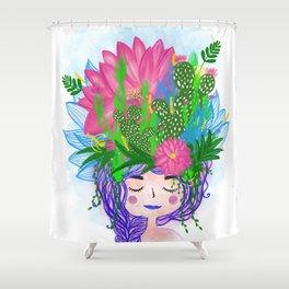 Juntas, we all grow. Shower Curtain