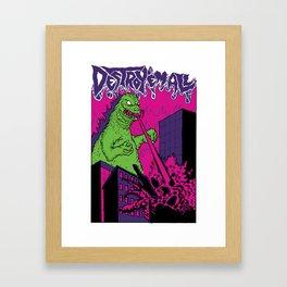 godzilla - destroy'em all Framed Art Print