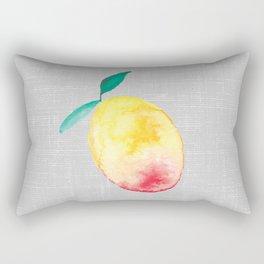 Exotic watercolor mango Rectangular Pillow
