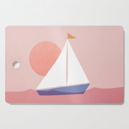 Abstraction_Sailing_Ocean Cutting Board