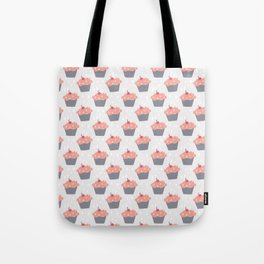 Fluffy Pink Cupcake Pattern Tote Bag