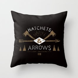 Hatchets & Arrows Throw Pillow