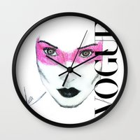 vogue Wall Clocks featuring Vogue by Maca