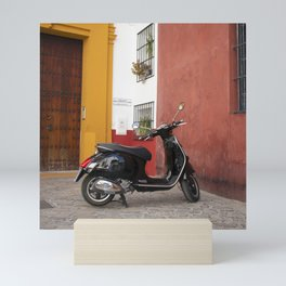 Motorbike In Sevilla Mini Art Print