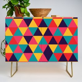 Colorful Triangles (Bright Colors) Credenza