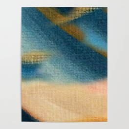 Wind and Rain - acrylic abstract with pink, blue, and brown Poster