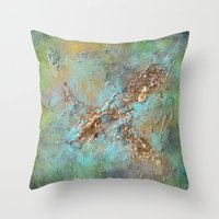 Gold Abstract Throw Pillow