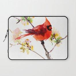 Cardinal Bird in Spring Laptop Sleeve