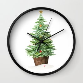 Trimming The Tree Wall Clock