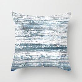 Blue gray stripes Throw Pillow