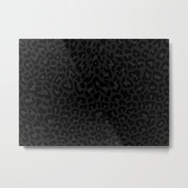 Dark abstract leopard print Metal Print