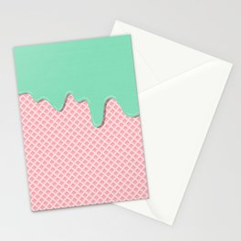 Mint Strawberry Stationery Cards