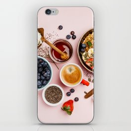 Heart made with Healthy breakfast set iPhone Skin