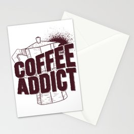Coffee Addict Stationery Cards