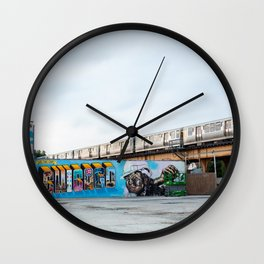 Chicago El and Mural Wall Clock