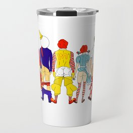 Fast Food Butts Mascots Travel Mug