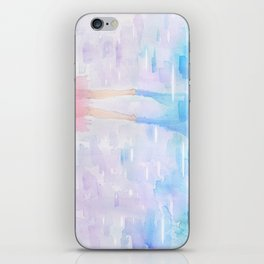 Pink and Blue Season iPhone Skin