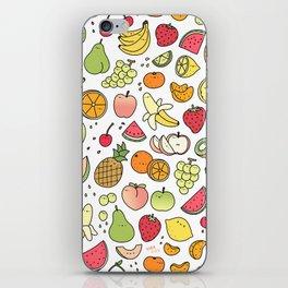 Juicy Fruits Doodle iPhone Skin