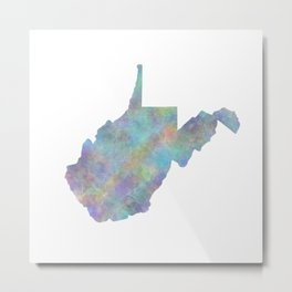 West Virginia State Map Art Print Metal Print