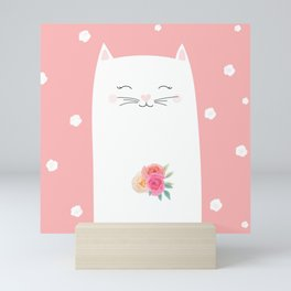 cat bride Mini Art Print