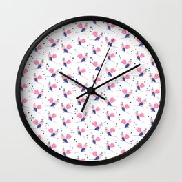 Lili birds patterns Wall Clock